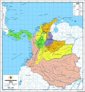 Mapa Politico Estados Unidos De Colombia.Rep La Nueva Granada 1835 A Rep Colombia 2014